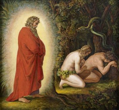 Adam and Eve leaving Eden
