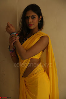 Nishigandha in Yellow backless Strapless Choli and Half Saree Spicy Pics 111.JPG