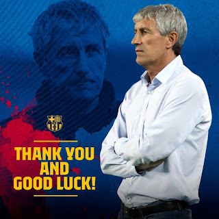 Official Quique Setién no longer Barcelona first team coach.