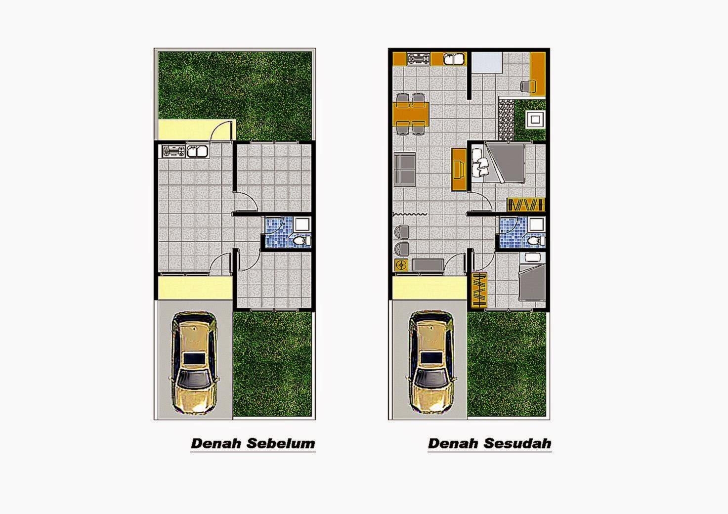 Desain Rumah Type 21 Dengan 3 Kamar