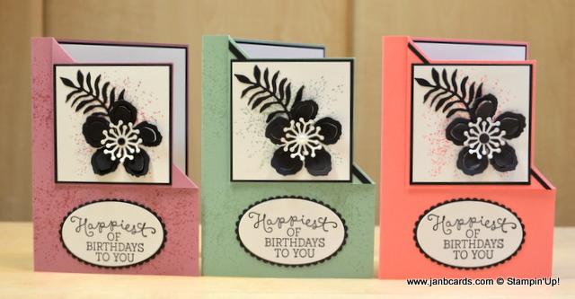 corner fold card video  janb cards