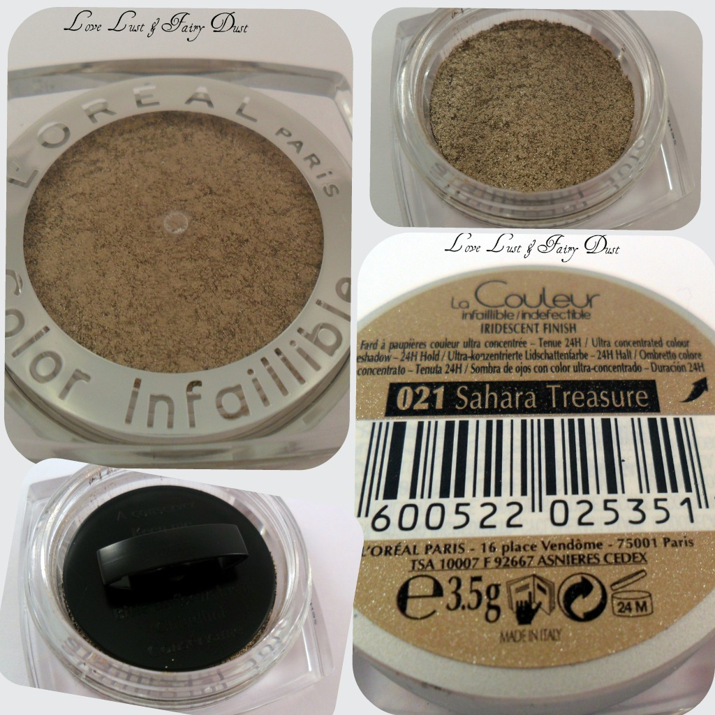 L'Oreal Infallible 24 Hour Eye Shadow - Sahara Treasure