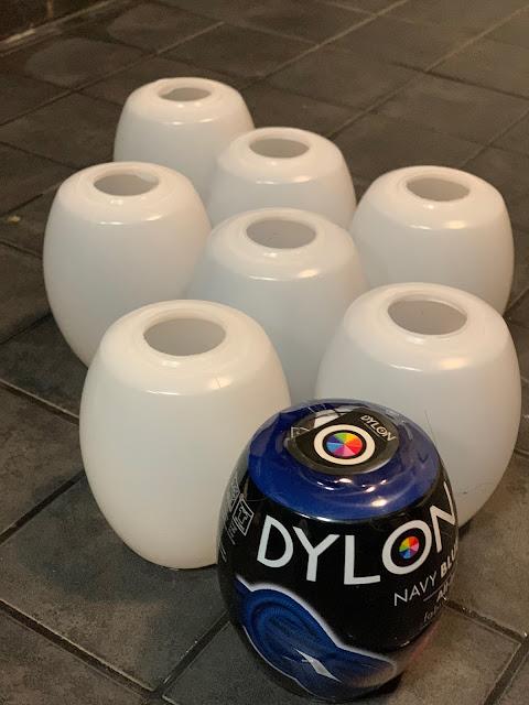 8 kpl Dylon väriä, sävy navy blue