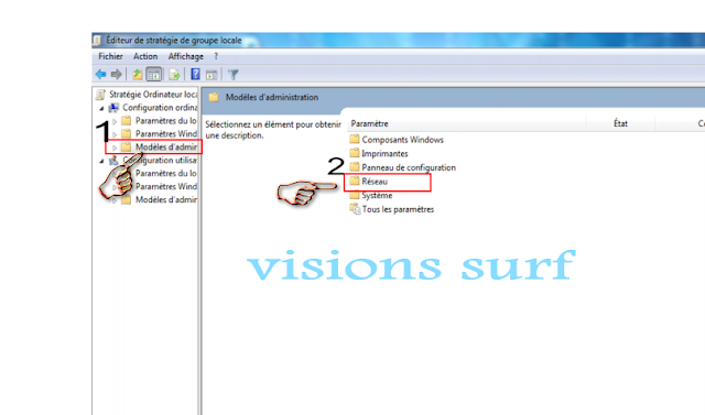 modification  du systeme windows
