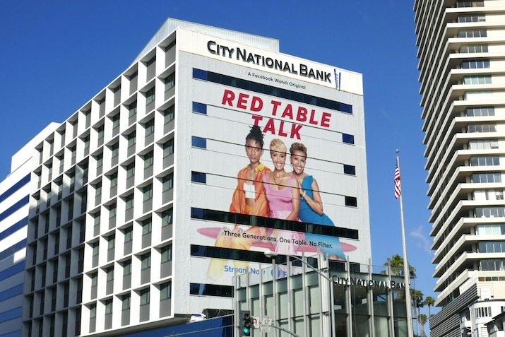 Giant Red Table Talk season 3 Facebook Watch billboard