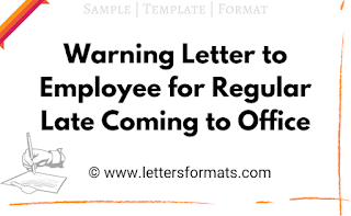 warning letter to employee for late attendance
