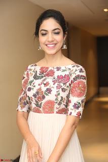 Ritu Varma smiling face Cream Anarkali dress at launch of OPPO New Selfie Camera F3 ~  Exclusive 061.JPG