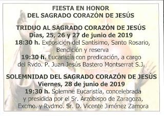 Fiesta del Sagrado Corazón de Jesús 2019