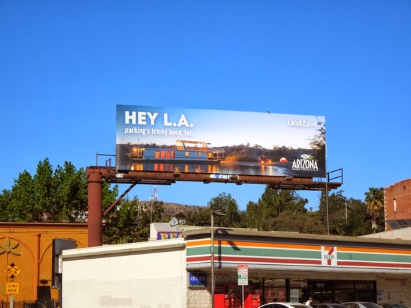 Hey LA Arizona tourism billboard