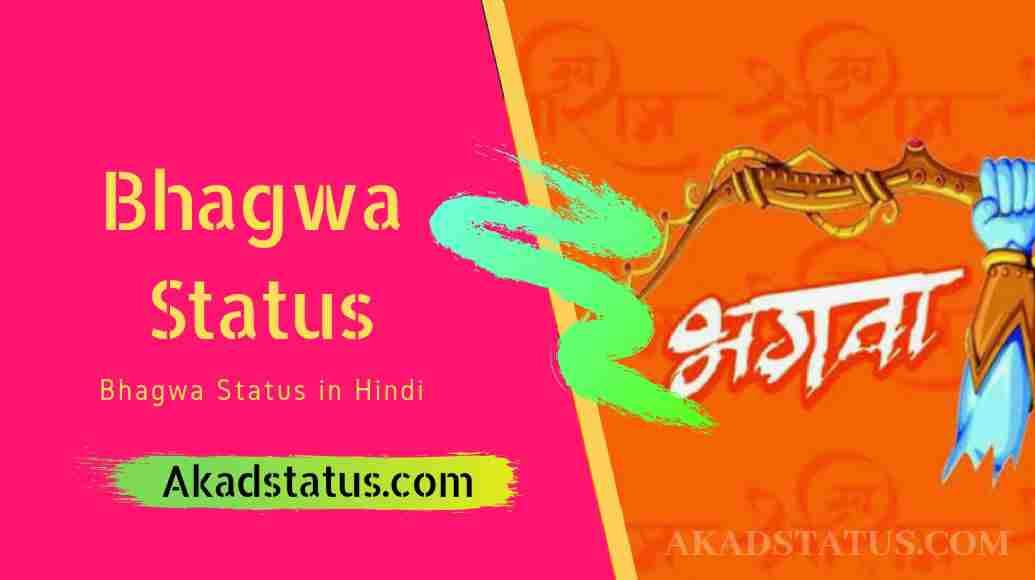 Bhagwa attitude status in hindi | भगवा हिंदी स्टेटस, bhagwa