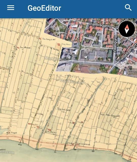 app per confrontare mappe antiche