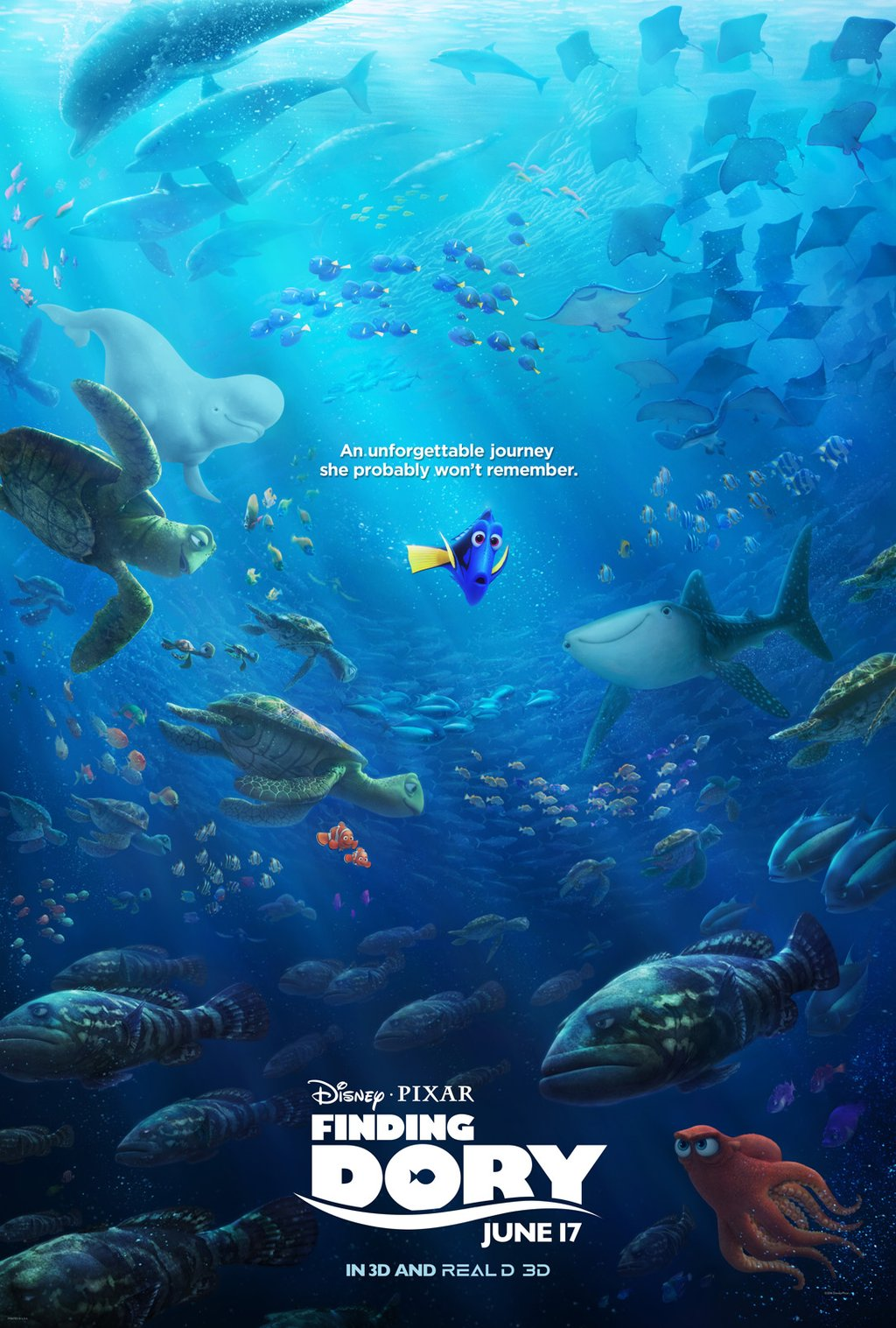 finding dory official movie poster pixar post
