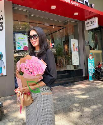 flowers delivered to her door in Saigon