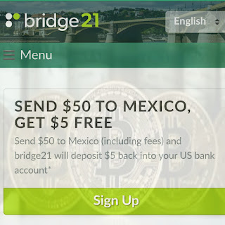 Bridge21 : to send money USA to Mexico