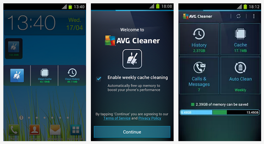 Free Download AVG Cleaner APK for Android