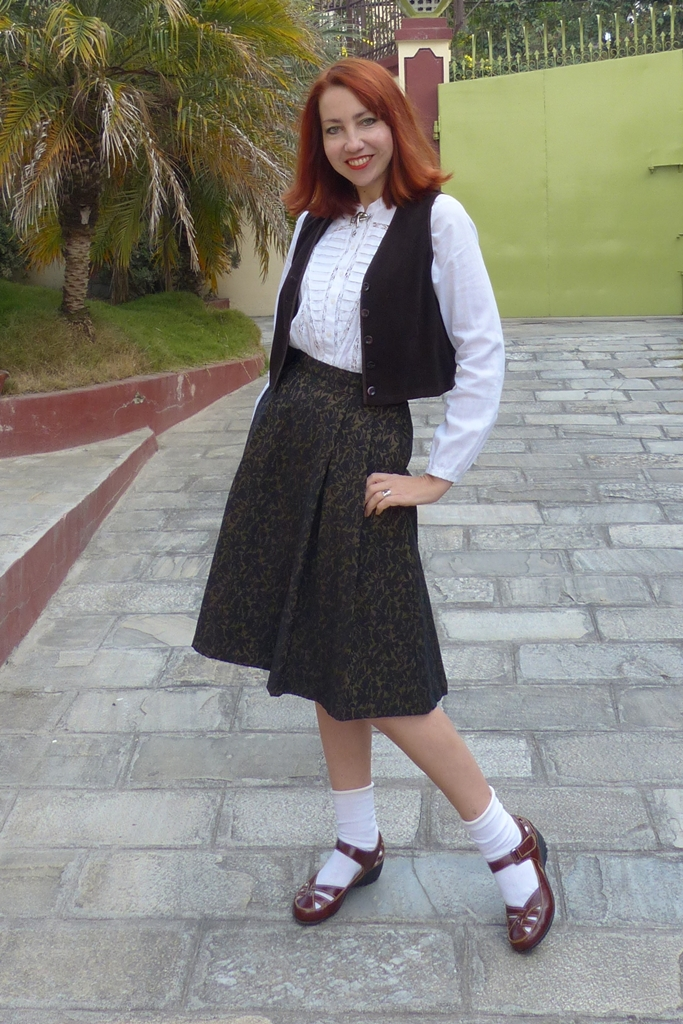 Schoolgirl inspired look