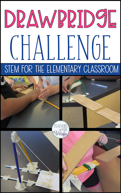 The Engineering Design Process is the heart of STEM.  This blog post will answer all your questions and the EDP with elementary students and share the Drawbridge Challenge with you! #teachersareterrific #STEM #elementary