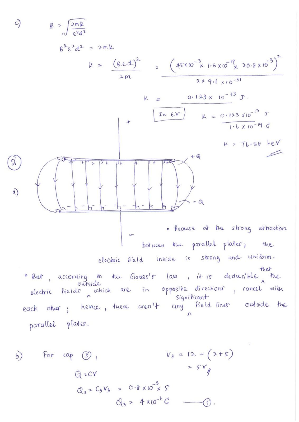 Lecture Notes in Physics : Model Answers: Magnetic fields
