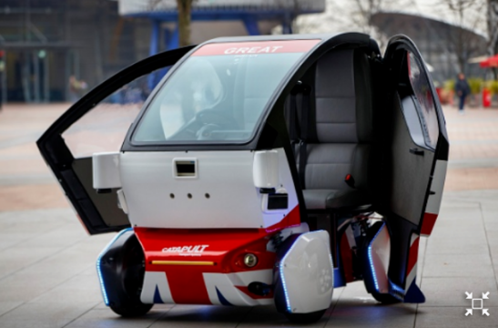Drive through snow developed : First robot car