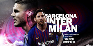 Barcelona vs Inter Milan Live Streaming Today 24-10-2018 UEFA Champions League
