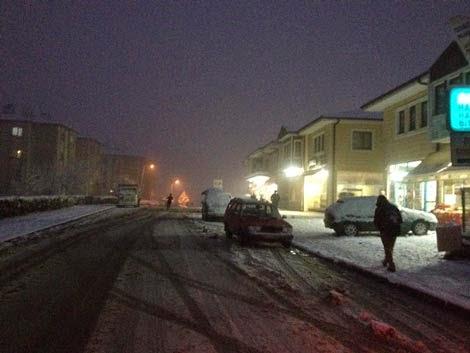 Korucuk Kerem Coşkun Caddesi kış fotoğrafı manzarası