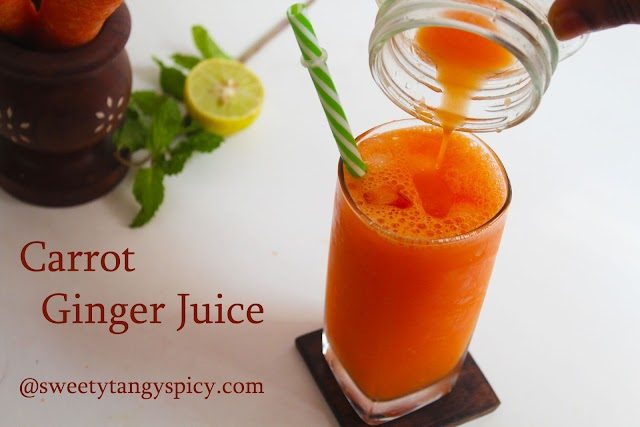 Healthy and Refreshing Carrot Ginger Juice