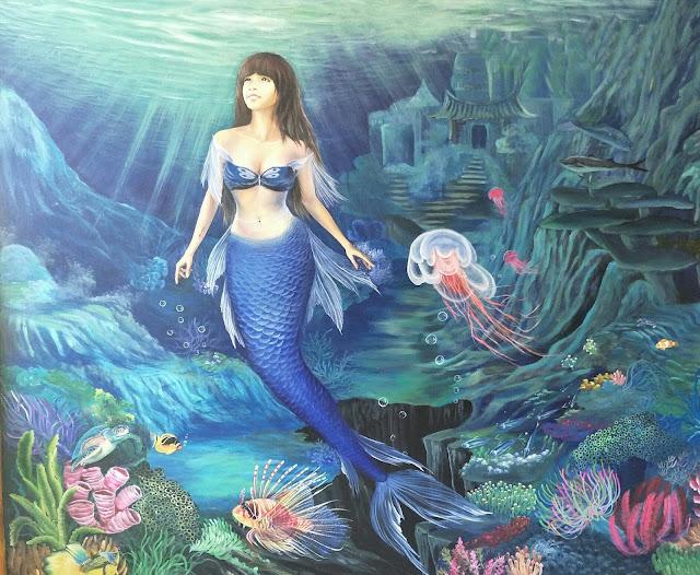 tranh sơn dầu công chúa thủy tề