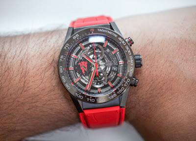ffa309f54a7 TAG Heuer Carrera Heuer 01 Manchester United Replica Horloges