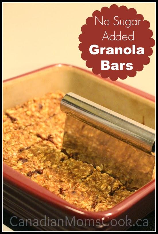No Sugar Added Granola Bars
