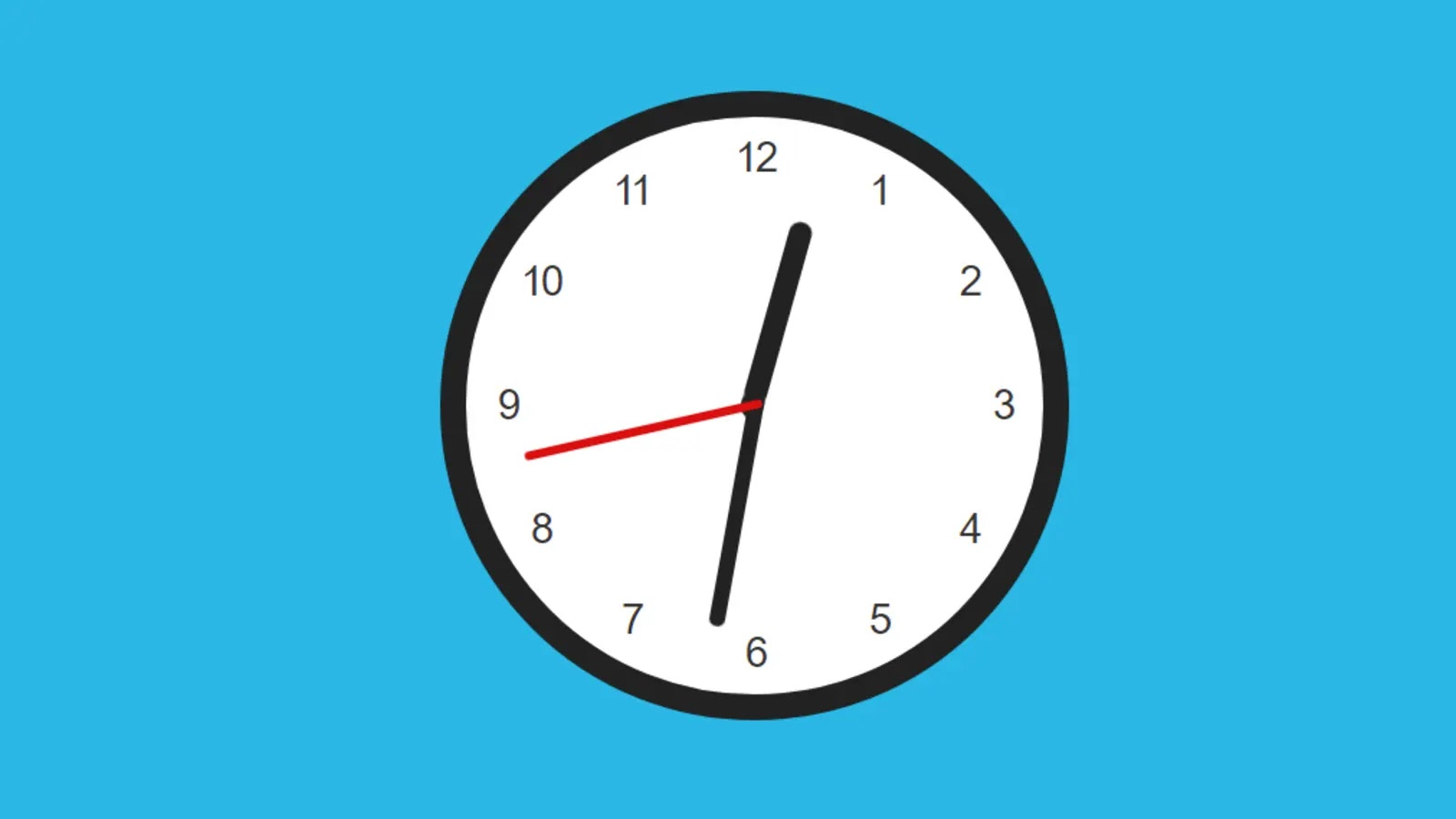 Determine the rotation of the hands-on the clock