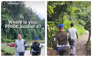 Dulu Joging Dikawal Polisi, Kini Viral Lagi Cucu Taipan Kartini Muljadi Punya Bodyguard TNI