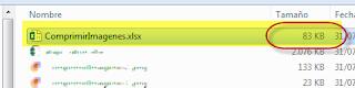 Comprimir Imágenes en Excel