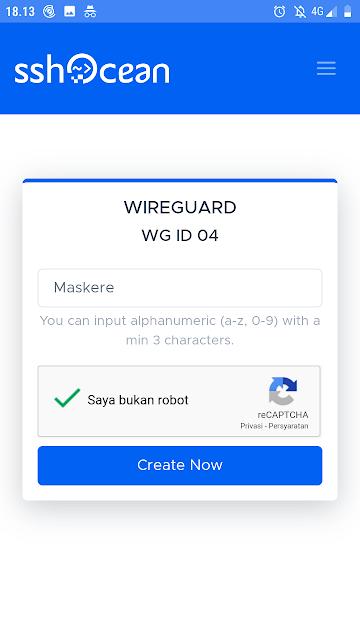 Cara Membuat Akun Wireguard VPN Premium Gratis di SSHOCEAN