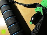"""Griff Muster: 3er Set Tube-Expander """"MuscleMaster"""" premium Fitnessbänder mit Haltegriff in 3 Stärken (leicht mittel schwer). Exzellentes Ganzkörpertraining für Zuhause dank innovativen Übungsband."""