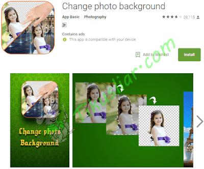 Aplikasi Android mengubah foto latar belakang
