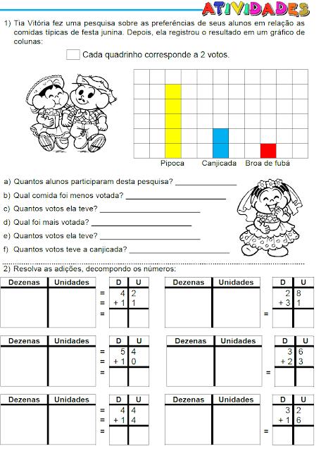Atividades matemáticas - Gráfico e Adições