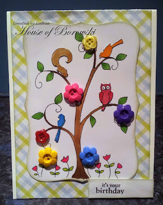 Diecut Divas, A Day for Daises Happy Tree