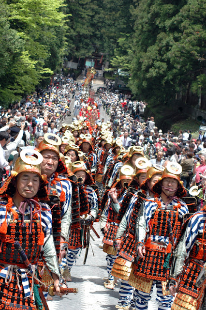 Autumn Festival (parade dressed in full samurai regalia) at Toshogu Shrine, Tochigi