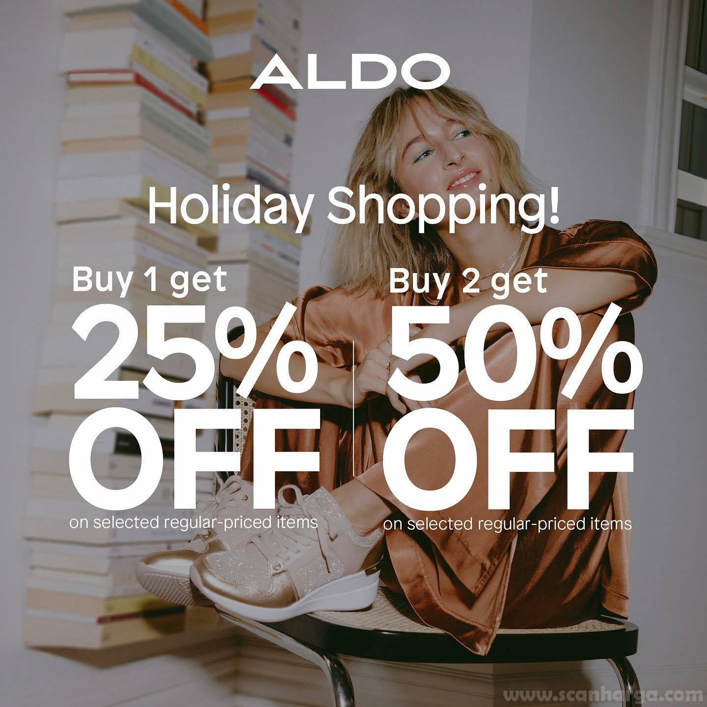 Promo ALDO Shoes Holiday Shopping – Buy 1 Get 25% Off or Buy 2 Get 50% Off*
