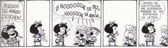 Comic de Mafalda sobre la Navidad