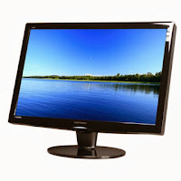Gambar Monitor Liquid Crystal Display (LCD) atau Flat Display Panel (FDP)