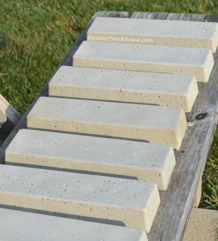 Finished DIY Concrete Bricks