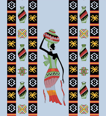 Lavanya-Geometric-Textile-African-Kaftan 53