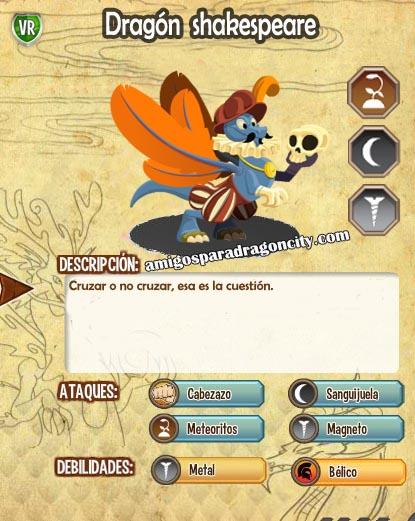 imagen de las caracteristicas del dragon shakespeare