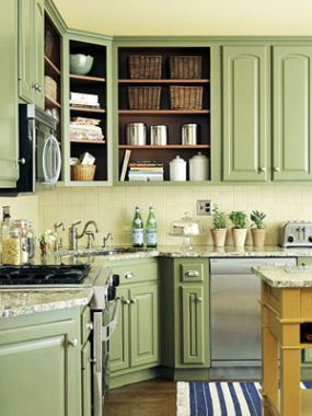 Cabinets For Kitchen Green Kitchen Cabinets Pictures