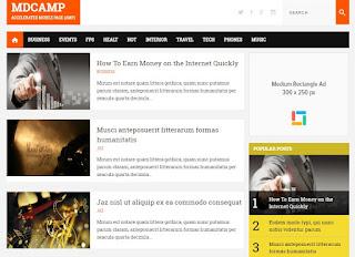 Blogger Template Valid AMP MDCamp - kanalmu