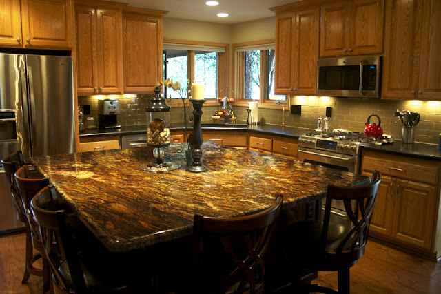 sensa orinoco granite kitchen countertop sample