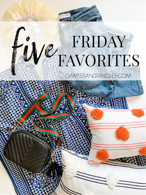 Amazon Fashion Finds, slim distressed boyfriend jeans, caftan dress, designer inspired bag, affordable cute pillows, dry bar shower cap