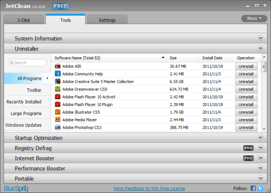 JetClean 1.5.0 2014 software download