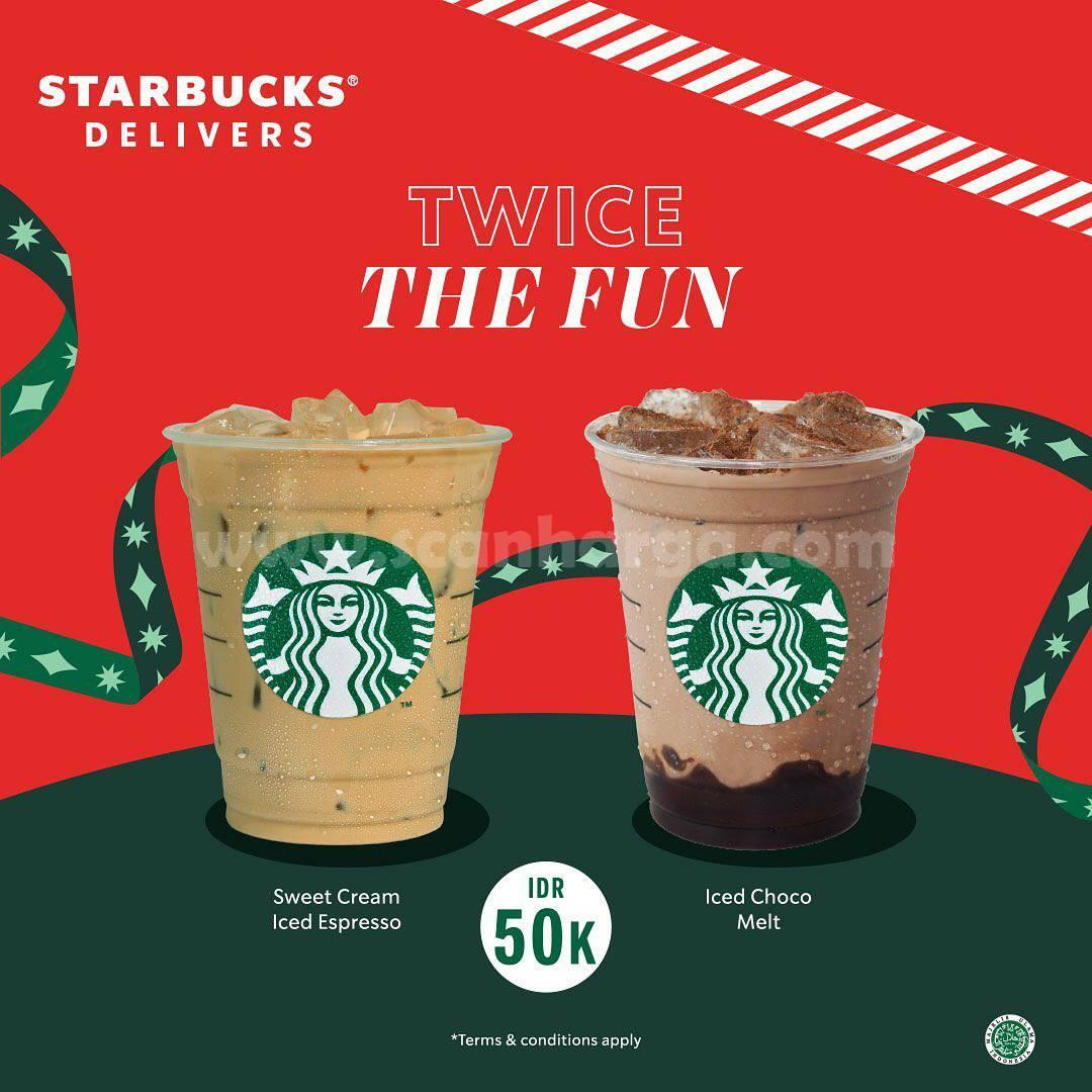 Starbucks Twice The Fun – Diskon Paket 2 Minuman cuma Rp50ribu